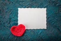 Szydełkowi valentine serca Obrazy Royalty Free