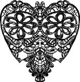 Szydełkowy czarny serce Obraz Stock