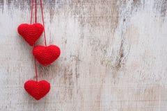Szydełkowy valentine serce Zdjęcie Stock