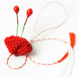 Szydełkuje kwiatu Handmade Dekoracyjnego przedmiot Fotografia Royalty Free