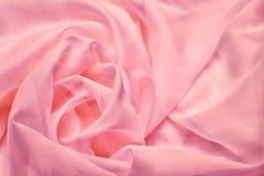 Szyfon różowa tekstylna tekstura obrazy stock