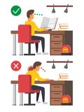 Szyja ból, biurowy syndrom royalty ilustracja