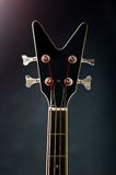 Szyja czarna basowa gitara Fotografia Stock