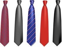 szyja inkasowi krawaty Obrazy Stock