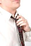 szyja krawat Zdjęcie Royalty Free