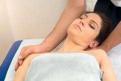 Szyja masaż Obrazy Stock