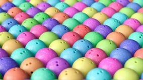 Szyk Ściśle Upakowane Kolorowe kręgle piłki ilustracji