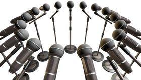 Mikrofony i stojaka szyk ilustracji