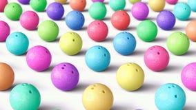 Szyk Kolorowe kręgle piłki, Szeroki kąt ilustracja wektor