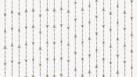 Szyk Miedziany drut kolczasty ilustracja wektor