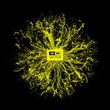 Szyk Z Dynamicznymi cząsteczkami 3d technologii futurystyczny styl abstrakcyjny tło Obrazy Stock
