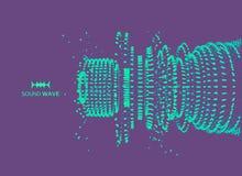 Szyk Z Dynamicznymi cząsteczkami Wektorowa rozsądna fala 3D technologii styl abstrakcyjny tło Zdjęcia Stock
