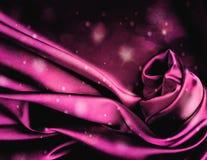 Szyka różowy atłasowy tło. Obrazy Royalty Free