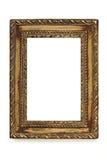 szyka rama ozłacająca nad obrazka podławym biel Obrazy Royalty Free