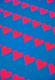 szyka tła błękitny serca czerwoni Obrazy Stock