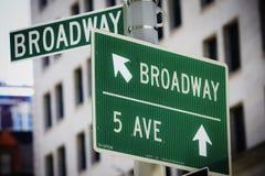 szyldowa Broadway ulica obraz royalty free