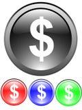 Szyldowa dolar ikona Zdjęcie Royalty Free