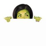 szyldowa Halloween czarownica Zdjęcia Stock