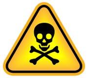 szyldowa niebezpieczeństwo czaszka Zdjęcie Royalty Free
