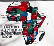 Szyldowa poczta dla Wielkiego rift valley w Kenja, Afryka Zdjęcie Royalty Free