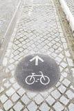 Szyldowa rower ścieżka Obraz Royalty Free