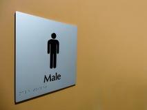 szyldowa samiec toaleta Zdjęcia Royalty Free