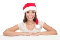 szyldowa Santa deskowa kobieta Zdjęcie Royalty Free