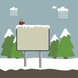 szyldowa zima ilustracja wektor