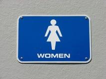 szyldowe toalet kobiety Zdjęcie Royalty Free
