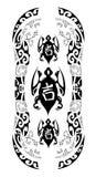 szyldowi trzy sukcesu tatuażu plemienny żółw Zdjęcie Royalty Free