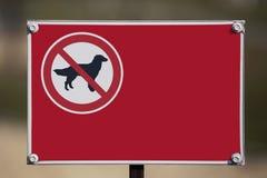 Szyldowi zabrania chodzi psy Fotografia Stock