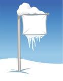 szyldowy śnieżny Obrazy Royalty Free