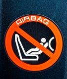 szyldowy airbag ostrzeżenie Obrazy Stock