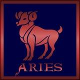 szyldowy aries zodiak Zdjęcia Stock