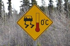 szyldowy autostrady ostrzeżenie Obraz Royalty Free