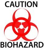 szyldowy biohazard ostrzeżenie Obrazy Stock