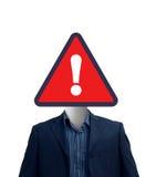 szyldowy biznesmena ostrzeżenie Fotografia Stock