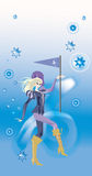 szyldowy capricorn zodiak Obraz Royalty Free