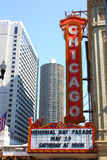 szyldowy Chicago theatre Obrazy Royalty Free