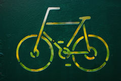 Szyldowy cyklista Obrazy Royalty Free