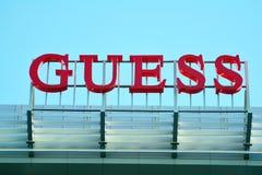 Szyldowy domysł Firmy signboard domysł zdjęcia royalty free