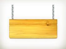 szyldowy drewniany Fotografia Royalty Free