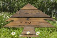 szyldowy drewniany Zdjęcia Royalty Free
