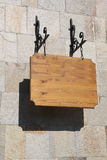 szyldowy drewniany Obraz Stock
