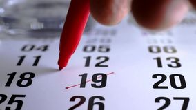Szyldowy dzień na kalendarzu zbiory