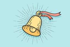 Szyldowy dzwon z lekkimi promieniami royalty ilustracja