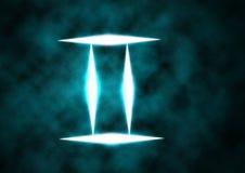 szyldowy Gemini zodiak Fotografia Stock