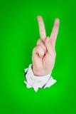 szyldowy gesta zwycięstwo Obraz Royalty Free