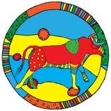szyldowy horoskopu taurus royalty ilustracja