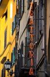 szyldowy Italy trattoria Fotografia Stock